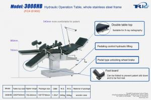 3008HB Hydraulic Operation Table