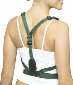 Posture support with a signal unit (beep or vibration)