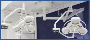 LED C 16ET/13ET - Dual head ceiling operating light system