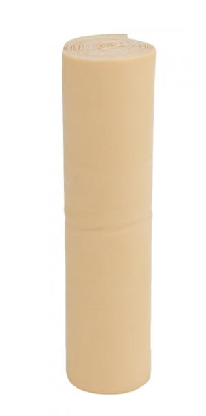 """Sup-R Band® is made from a premium latex free formula and excels compared to other exercise band: our TPE latex free formula has similar use and strength characteristics to latex exercise bands; similar puncture resistance; similar tear and burst strength; requires similar force to stretch and contract; 5"""" width; has core for use with dispenser systems; made of Thermoplastic Elastomer (TPE); color-coded in Thera-Band® colors. Roll is packaged in a dispenser box. Unroll desired length of exercise band from d"""