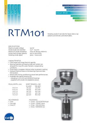 Rotating anode X-Ray tube insert