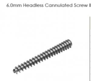 6.0mm Headless Cannulated Screw I