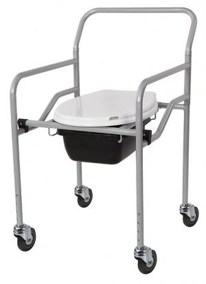 KT-771 Foldable Commode Chair W/Wheels