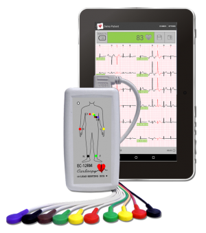 EC-12RM CARDIOSPY MOBILE FOR ANDROID 12 CHANNEL RESTING ECG SYSTEM