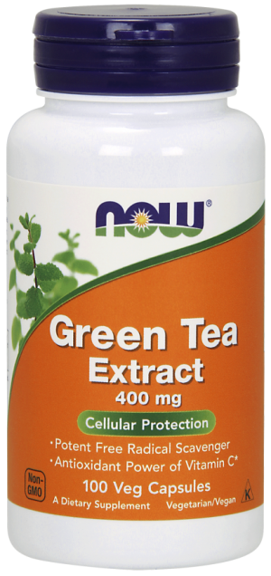 NOW Green Tea Extract 400 mg Veg Capsules