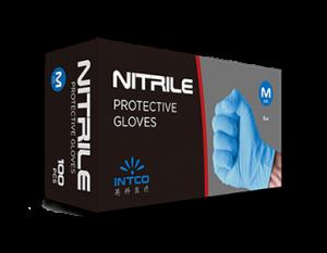Blue Nitrile Protective Gloves