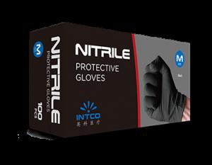Black Nitrile Protective Gloves