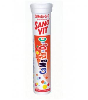 SANO VIT CAMGZN + VITAMIN D3 + VITAMIN C (LEMON FLAVOUR)