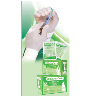 'Surgicare Plus' Sterile Powder free Chlorinated Sterile Latex Surgical Gloves