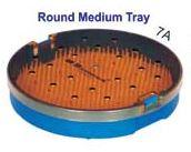 ROUND STERILIZATION TRAY WITH DOUBLE MAT (DOUBLE DECKER) - INSTRUMENTS AUTOCLAVE TRAY
