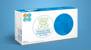 HIGH RISK LATEX Powder Free Examination Gloves