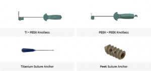 Doratek Titanium, Peek & Knotless Suture Anchor Systems