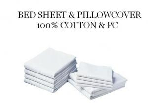 Bedsheet and Pillow Cover 100% Cotton and PC