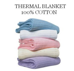 Thermal Blanket 100% Cotton