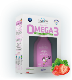 Premium Kids Omega 3 Natural Strawberry Flavored Fish Oil Syrup