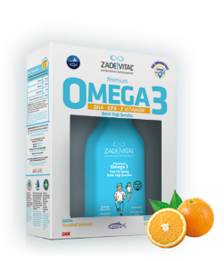 Premium Kids Omega 3 Natural Orange Flavored Fish Oil Syrup