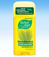 Herbal Clear Aloe Fresh Aluminum-Free Deodorant (2.65ozs)