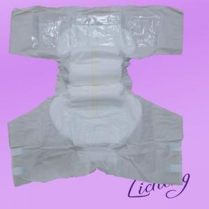 Adult Diaper with PE backsheet and one sides waist band