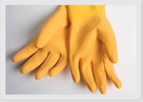 Latex Gloves Household Polymer Coated
