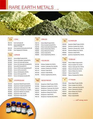 RARE EARTH METAL & SALTS