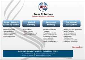 The list of services offered by UHS page 1 of 2