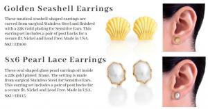Earrs Pearl Lace Earrings