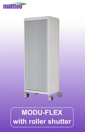 MODU-FLEX 1 section modular transport trolley with roller shutter
