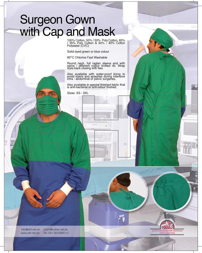 SURGEON GOWN WITH CAP AND MASK | ASSOCIATED HOME TEXTILES PVT., LTD.