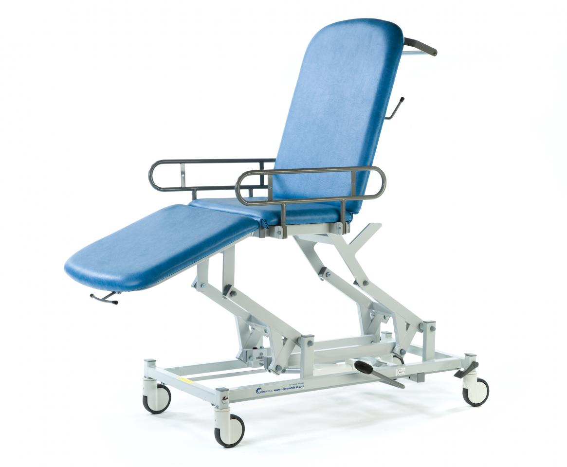 Pleasing Medicare 3 Section Mobile Treatment Couch Seers Medical Theyellowbook Wood Chair Design Ideas Theyellowbookinfo