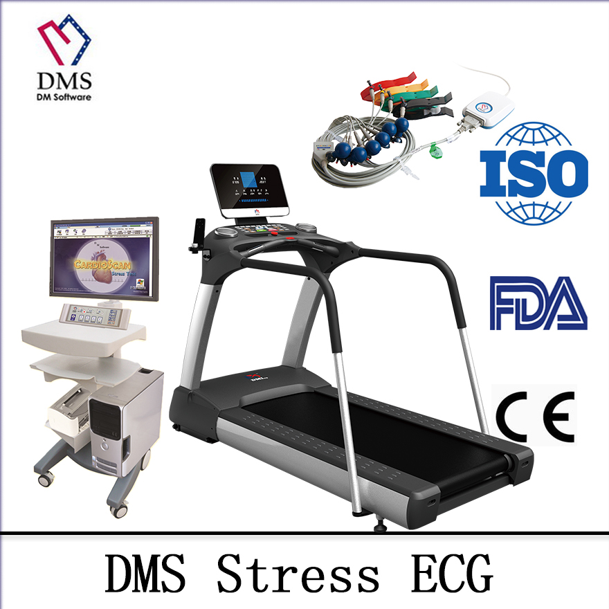 Stress Test Treadmill: DMS Stress Test ECG System With Treadmill And Medical Cart