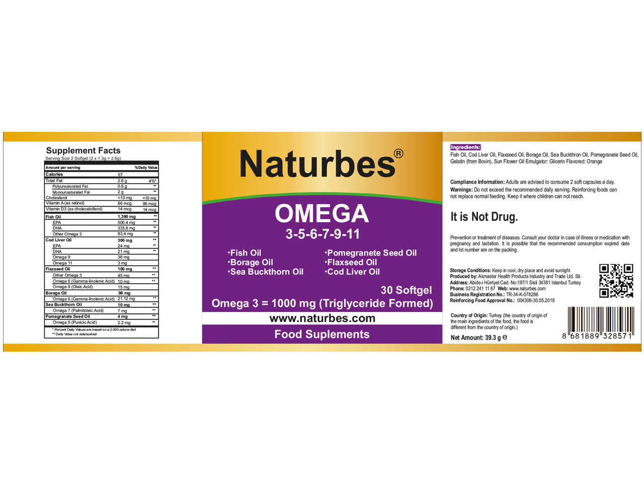 Naturbes Omega 3 5 6 7 9 11 All In One Akmaster