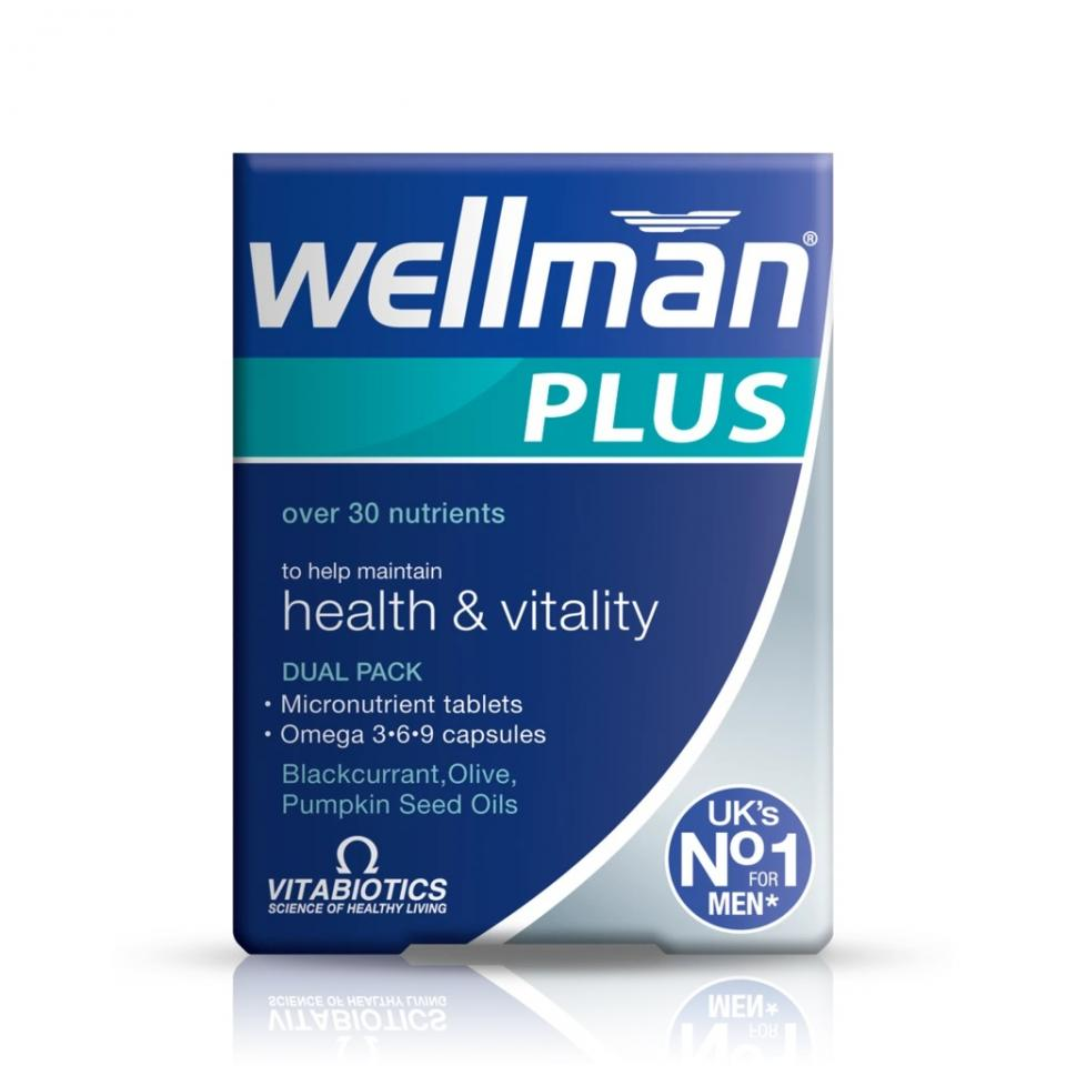 Vitabiotics Wellman Plus Omega 3 6 9 28tabs 28 Caps