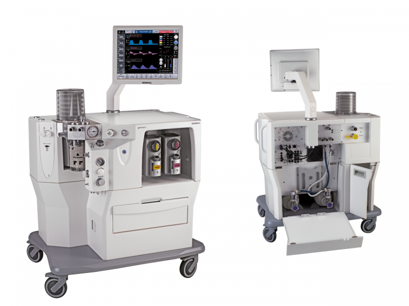 Versatile Anaesthesia workstation/machine with modular configuration and easy-to-follow installation