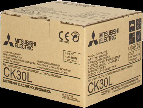 Mitsubishi CK-30L Paper And Ink Cartridge