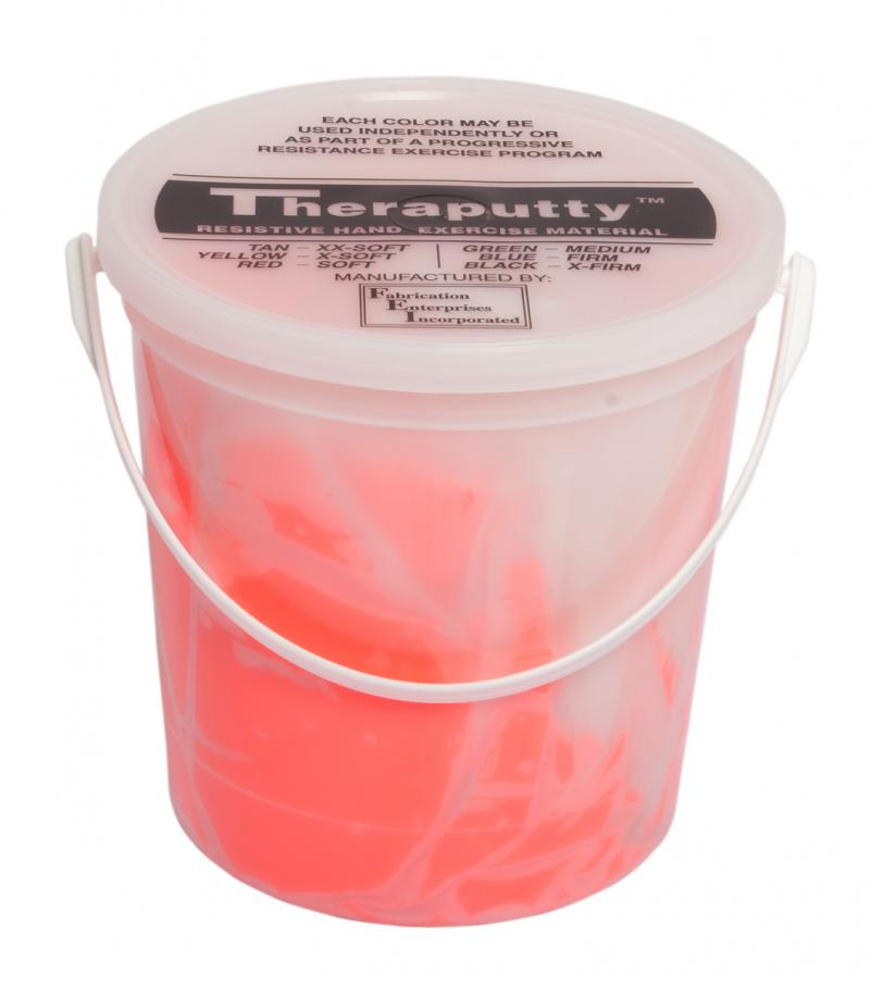 CanDo® Theraputty® hand exercise material is the standard in resistive hand exercise material. Each color-coded putty has a different consistency ranging from xx-soft for strengthening the weakest grasp to extra-firm for developing a stronger grip. Available in convenient easy-to-open plastic containers (2, 3, 4 and 6 ounce) for individual patients to use at home and a choice of larger containers (1 and 5 pound) for the hospital or clinic. CanDo® Theraputty® material is gluten, latex and casein free. 5 lb -