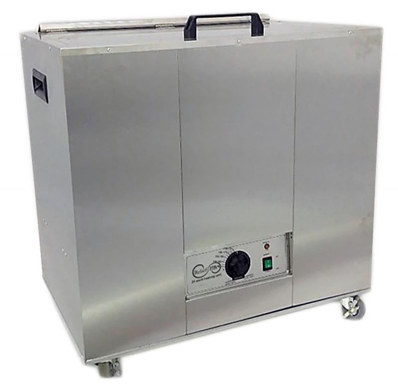 The Relief Pak® Heating Unit 24-Pack Capacity effectively heats moist heat packs up to 170⁰ in an insulated hot water bath. Insulated design keeps heat from dispersing out of the unit, allowing it to retain heat. It is made from durable stainless steel that's perfect for high traffic clinics and its mobile design with rolling feet allow it to be easily moved across a room. This heating unit features adjustable temperature control and a glowing orange light illuminates when the unit has reached its desired t