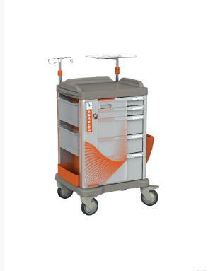 The PERSOLIFE emergency trolley by Francehopital with 400 mm drawers