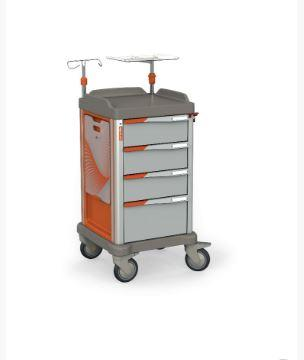 The PERSOLIFE emergency trolley by Francehopital in its compact version