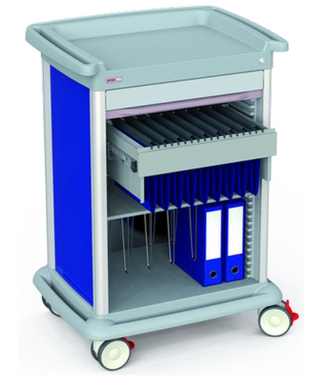 PRECISO Patient Files Trolley