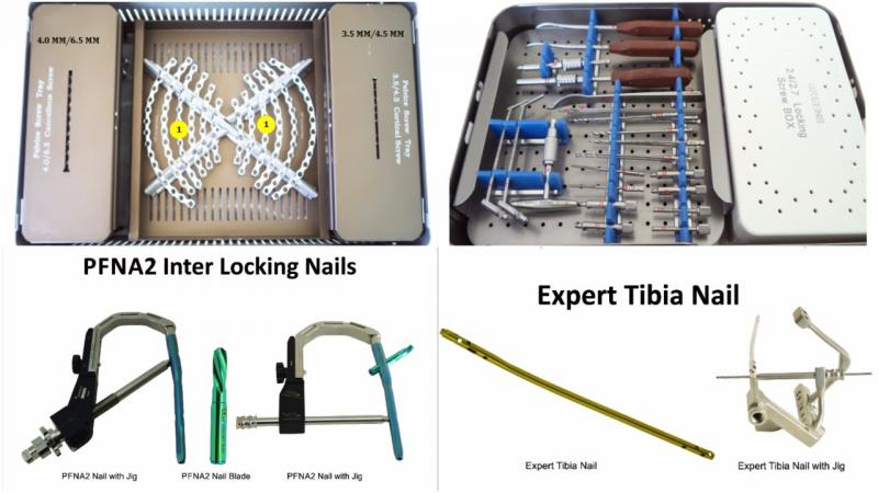 INTERLOCKING NAILS, PFNA2, EXPERT TIBIA NAIL, PELVIC & INTRAMEDULLARY NAILING, SPINE & JOINTS