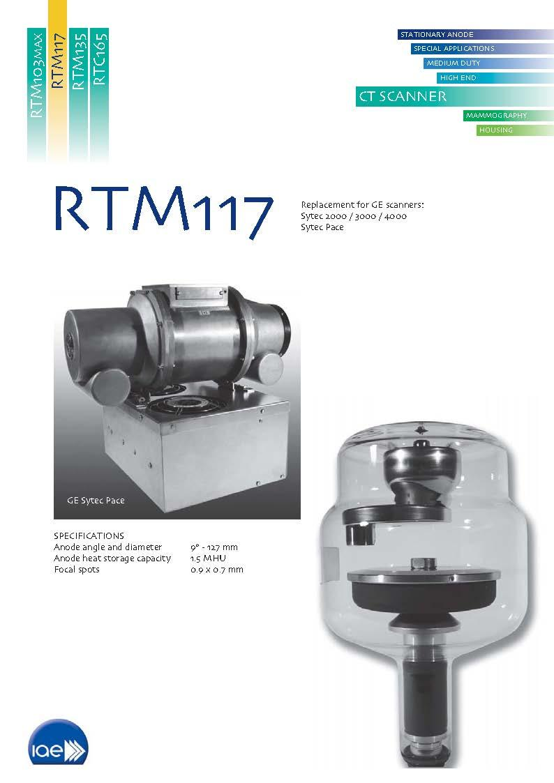 CT rotating anode X-Ray tube insert