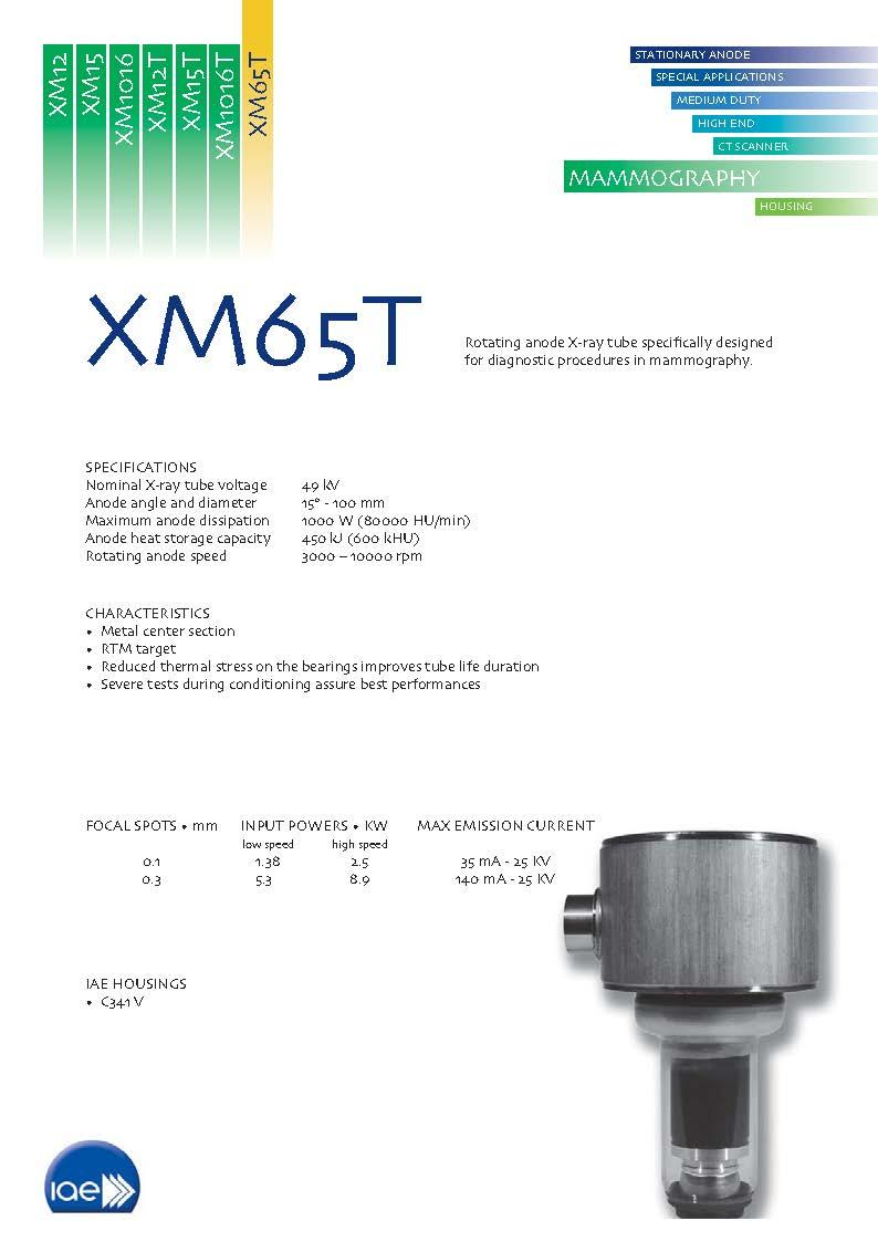 Rotating Anode X-Ray Tube Insert for Mammography