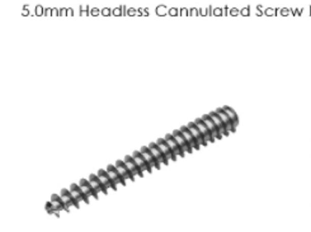 5.0mm Headless Cannulated Screw I