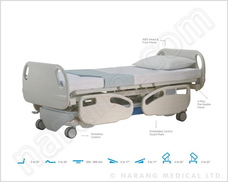 HF1003 - I.C.U. Bed, Electric, 7 Function with X-ray Permeable Backrest