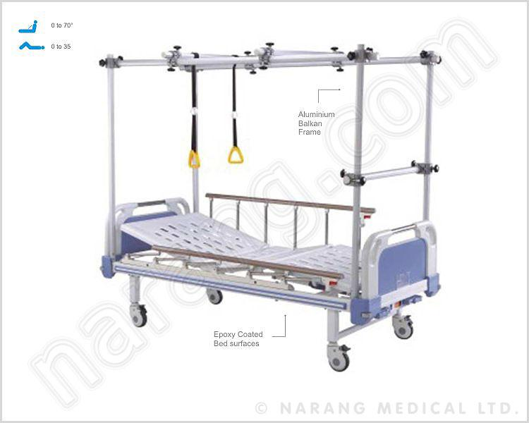HF1853 - Orthopaedic Bed (with Aluminium Balkan Frame & ABS Panels)