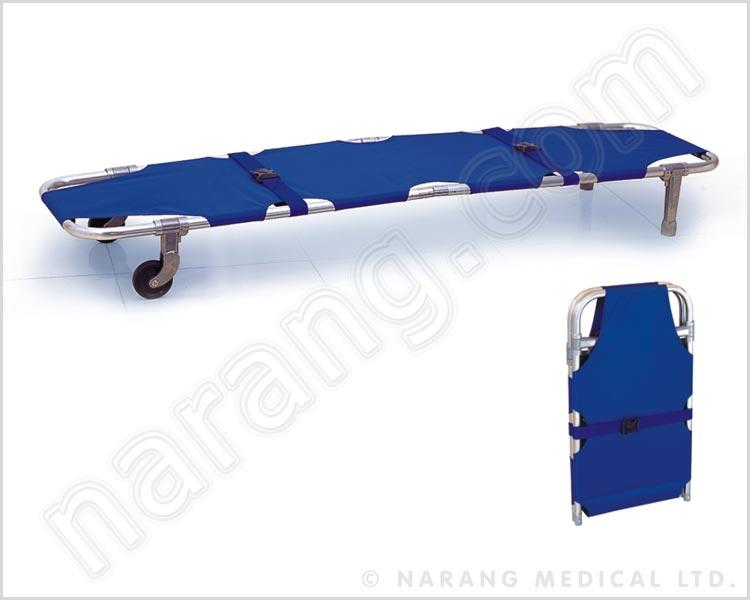 HF5000 - Stretcher Single Fold With Two Wheels
