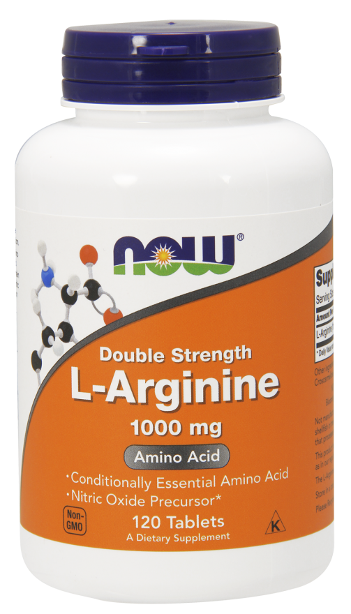 NOW L-Arginine 1000mg 120 Tabs