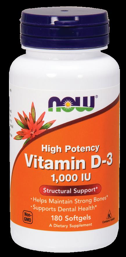 NOW Vitamin D3-1000 IU 180 softgels