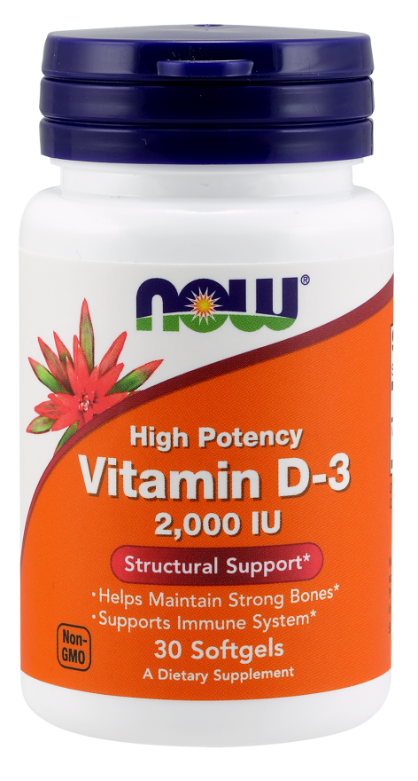 NOW Vitamin D3-2000 IU 120 softgels