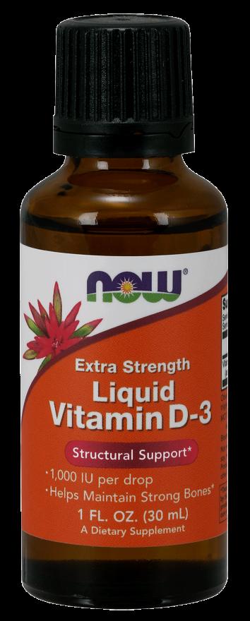 NOW Extra Strength Liquid D-3 1000 IU per 1 Drop 1 Oz